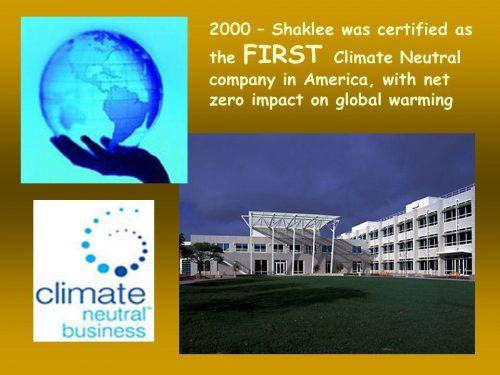 FIRSTClimateNeutralcompanyinAmericawithnetzeroimpactonglobalwarming
