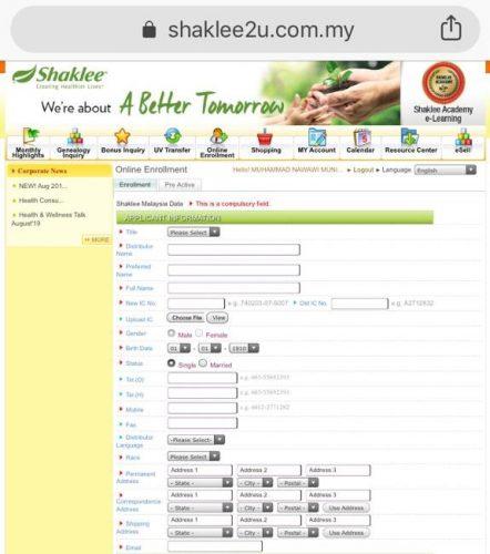 sistem-daftarkan-keahlian-baru-shaklee-secara-online-sahaja
